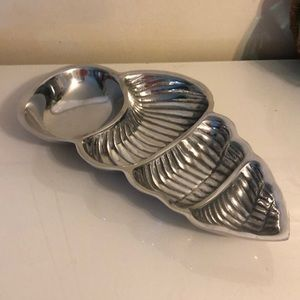 Accents - Pewter Seashell Divided Dish